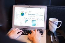 Google Analytics screenshot on laptop