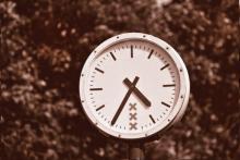 Clock in park