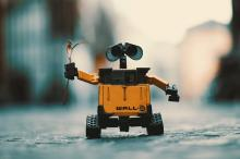 Cute waving robot