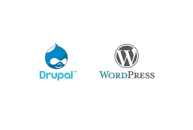 Drupal & Wordpress logos