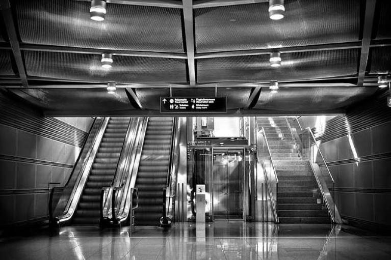 Station stairs
